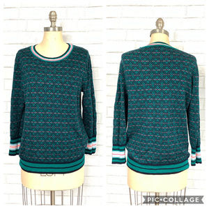 J. Crew L/S Argyle Pullover Knitted Sweater